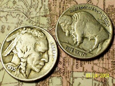 "1935-P  @  ""Buffalo"" Indian Head nickel (From old roll)"