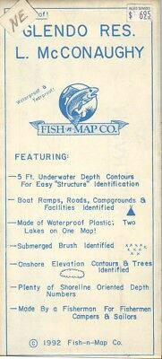 Fish-n-Map Co L. McCONAUGHY GLENDO RES. c1992