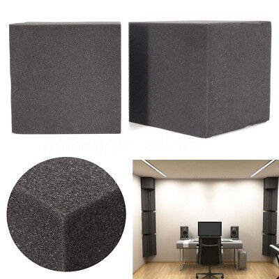 2Pcs Soundproof Studio Acoustic Corner Cube Bass Trap Foam Absorption 20x20x20cm