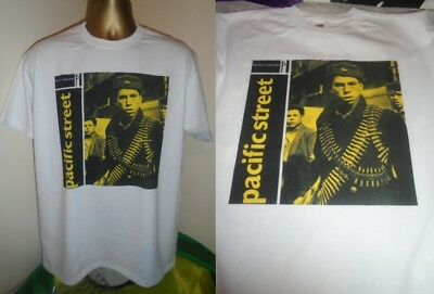 The Pale Fountains- Class Pacific Street Album Art Print T Shirt- White - Small