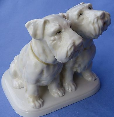 Rare Pair Sealyham Cesky Terriers Germany 6""
