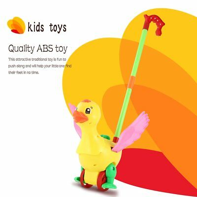 Push Animal Toys Duck Shaped Cartoon Cart Toys Baby/Toddler/Child WalkingHX