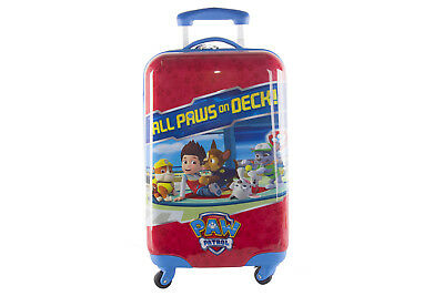 Rigid trolley case PAW PATROL red cabin baggage by hand ryanair abs VS124