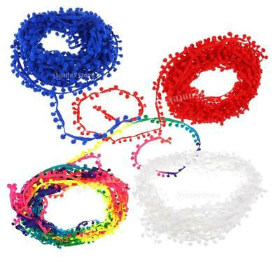 20 Yard Pom Pom Trim Trimming Sewing Craft 11mm Fringe Pompom DIY Embellishments