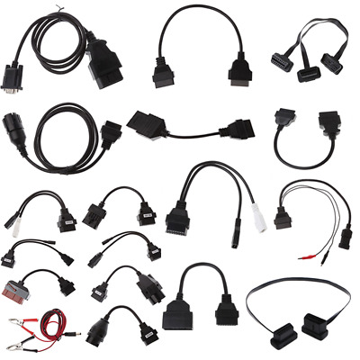 10/12/16/20/22/38Pin OBD OBDII Connector Adapter Cable Male To Female 1Pc