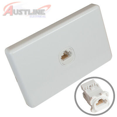 1Port Gang Cat6 Wall Plate Clipsal Style RJ45 Cat 6 Jack +C-Clip Aw1C180