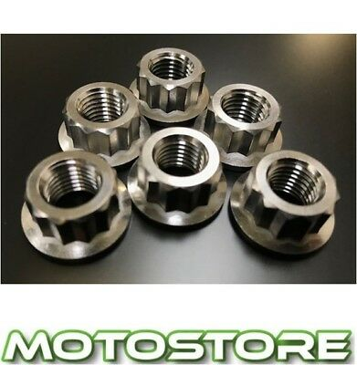 Titanium 12 Point Sprocket Nuts Fits Ducati Monster S4R 996 2003-2006