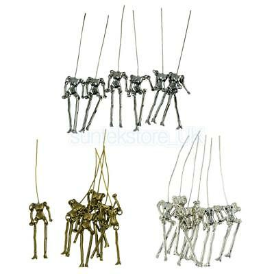 18Pcs Unique Carved Human Skeleton Body DIY Dolls Pendant Jewelry Findings