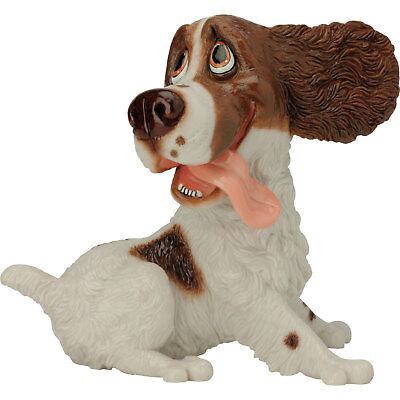 """Pets With Personality """"Willow"""" Springer Spaniel Brown & White Dog Figurine 7.5""""H"""
