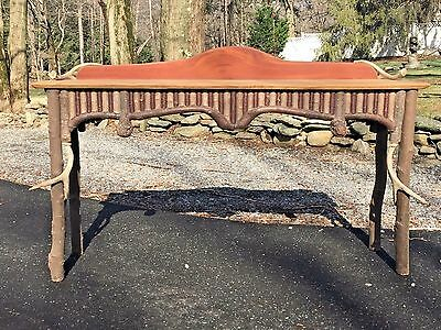 Vintage Adirondack Style Stick & Antler Rustic CONSOLE TABLE