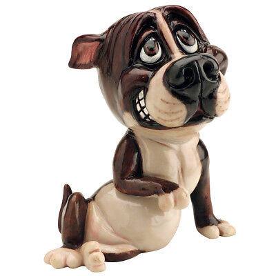 "Little Paws ""Chaz"" Staffy Pitbull Staffordshire Terrier Dog Figurine 4.75""H New!"