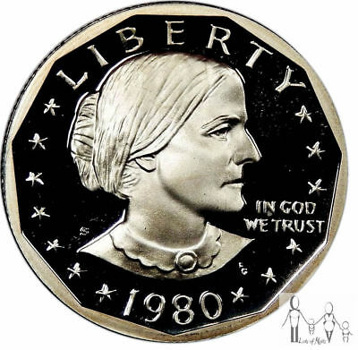 1980 S GEM Proof Deep Cameo Susan B Anthony Proof Dollar