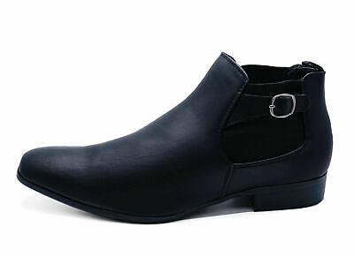 Mens Black Brickers Smart Chelsea Dealer Pointed Ankle Boots Work Shoes Uk 6-11