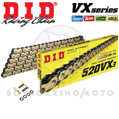 CATENA DID 520VX3 Gold & Black G&B 110 MAGLIE XRING DUCATI MONSTER 696 ANNO 2010