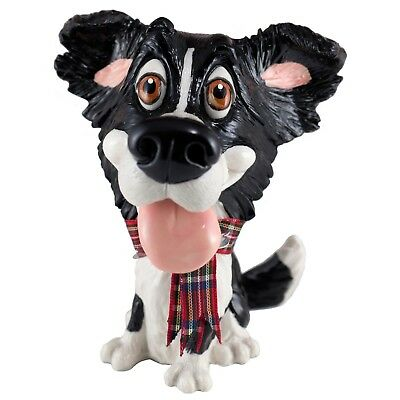 "Little Paws ""Gyp"" Border Collie Dog Figurine 4.75"" High New In Box! Made In UK"
