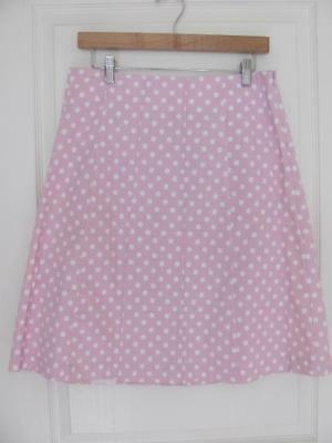 Gap Cute Pink Paneled Skirt With White Polka Dots Size S