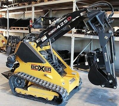 Backhoe Attachment w/Swing, Digs 5', Fits Boxer, Prowler Mini Track Loaders Only