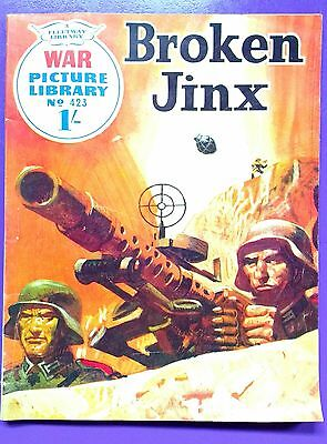 War Picture Library No.423: Broken Jinx. Fleetway Library, 5th February 1968.