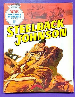 War Picture Library No.429: Steelback Johnson. Fleetway Library, 4th March 1968.
