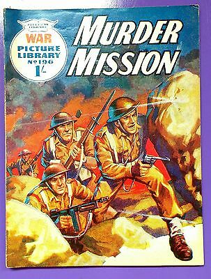 War Picture Library No.196: Murder Mission. Fleetway Library, 3rd June 1963