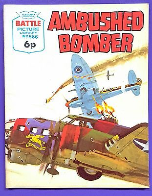 Battle Picture Library No.566: 'Ambushed Bomber'. Fleetway Library, ©1971.