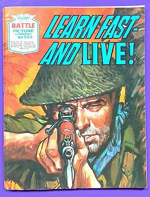 Battle Picture Library No.552: 'Learn​ Fast - And Live!' Fleetway Library ©1971