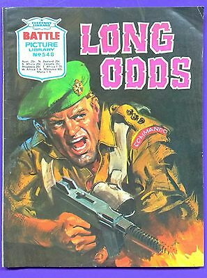 Battle Picture Library No.548: 'Long Odds'. Fleetway Library ©1971