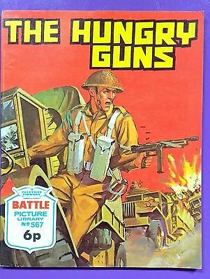 Battle Picture Library No.567: 'The Hungry Guns'. Fleetway Library ©1971.