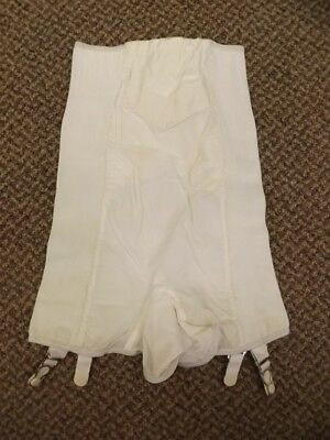 ff932ce7b7b6 Rubber Vtg 1950s NEW High Waist Long Leg Shaper Girdle Garters Panties S  25/26