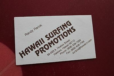 Business cards kauai images card design and card template vintage surfing kaluna hawaii sportswear 60s kapaia kauai 2x3in vintage hawaii surfing promotions randy rarick 2x3in reheart Image collections