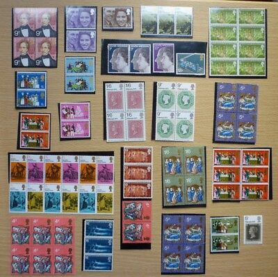GB Stamps 1970's-Collection of Unused Commemorative Sets