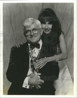 1992 Press Photo Phil Donahue and Susan Lucci hosts of the Daytime Emmy Awards