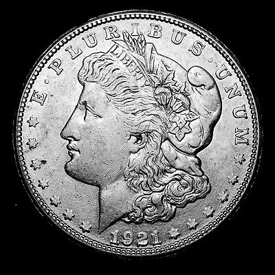 1921 S ~**ABOUT UNCIRCULATED AU**~ Silver Morgan Dollar Rare US Old Coin! #907