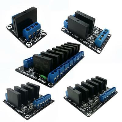 5V/12V/24V Solid-State Relay Module High-level Board Output AC 240V/2A Black