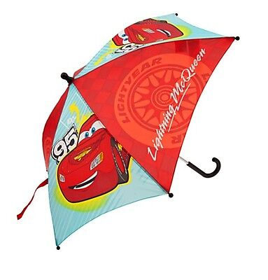 Disney Store Authentic Cars Lightning McQueen Boys Umbrella Gift NWT!