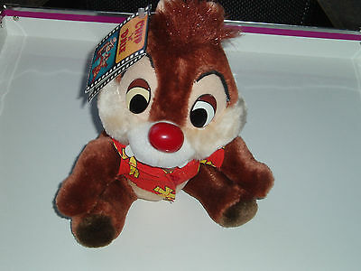 Rare Disney Rescue Ranger Dale Chipmunk With Tag Soft Toy