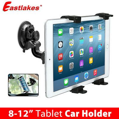 Universal Car Mount Windscreen Holder For iPad Mini Samsung Android Tablet 8-12""