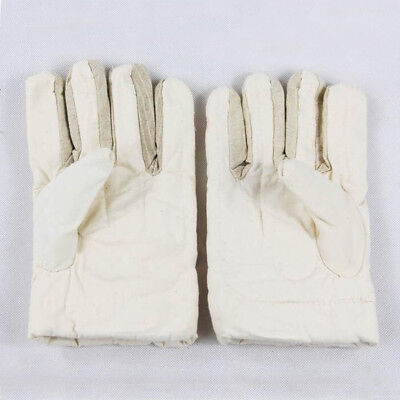 30cm Antiskid Gloves Work Gloves Safety Gardening Safety Hand Gloves -White