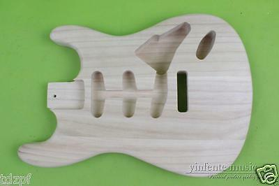 Strat Electric Guitar Body Unfinished Paulownia Wood High Quality SSS Style