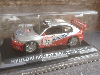 Hyundai Accent Wrc #11 Monte-Carlo Rally 2003 Loix Smeets 1/43 Boxed