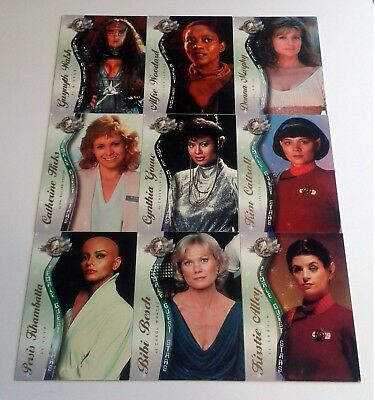 Star Trek Cinema 2000 Complete Female Guest Stars Chase Card Set F1-9