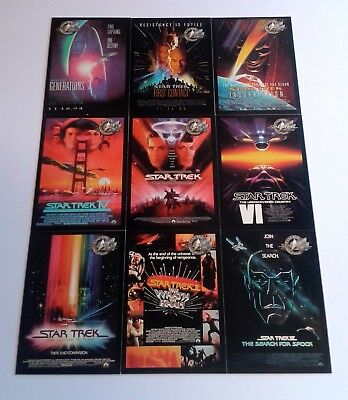 "2000 Star Trek Cinema MOVIE POSTERS ""Complete Set"" of 9 Chase Cards (P1-P9)"