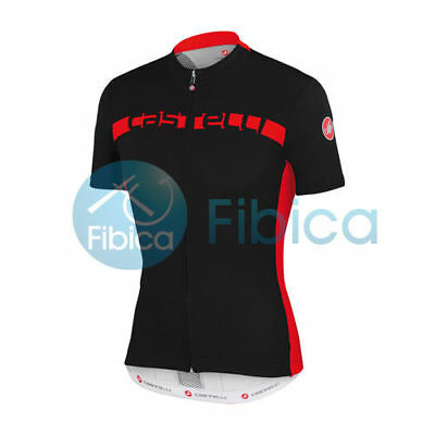New Castelli Cycling Prologo 4 Jersey FZ Full Zip Men's Black M-XL