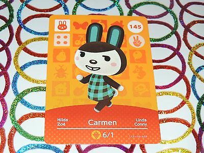 Amiibo Animal Crossing Card Carmen no. 145 Top