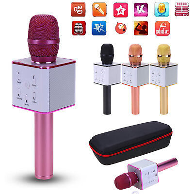 Q7 Wireless Bluetooth Karaoke Microphone Music Player Audio Speaker Home KTV