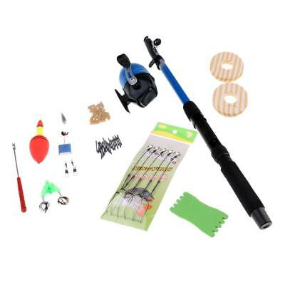 Telescopic Spinning Fishing Pole Rod and Reel Combo Set Full Kit with Float