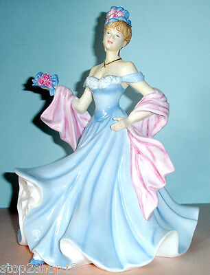 Royal Doulton A TENDER MOMENT Pretty Ladies Figurine HN5554 Blue Gown New In Box