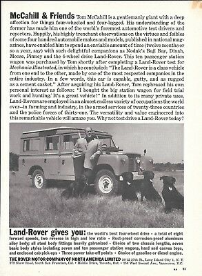 1961 Land Rover Tom McCahill With Black Lab Dogs Ad