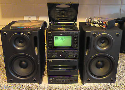 Jvc Ux-A5 Micro Hifi Cd Radio Cassette Player Audio Shelf System