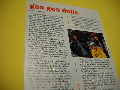 GOO GOO DOLLS detailed 1991 music business promo trade article with image